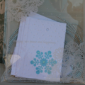 12 Snowflake Tags ~ Christmas Gift Tags ~ Christmas Tags ~ Ready to Post