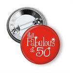 Large Birthday Age Badge - 50