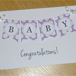 New Baby / Baby shower card with bunting
