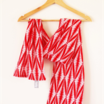Twig Scarf - Red Cotton Voile - NEW!