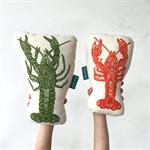 Pair of crayfish // Decorative crayfish cushions // Two yabbie cushions