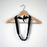 Twig Necklace - Charcoal Crinkle