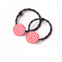 Set of 2 Dotty hair ties / ponytail holders