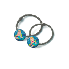 Set of 2 Mermaid 2 hair ties / ponytail holders