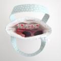 Mini Tote Bag & Purse - Pink Floral & Mint Spot