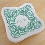 Personalised engraved ceramic ring dish. Engagement or wedding gift.