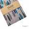 Grey Leaf Fabric Covered Notebook