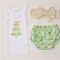 Bloomers & Singlet Set - Green & Gold Christmas