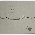 Blinking Billy - Sea Glass Cards, Whale