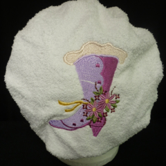 Ladies After Shower Towel Cap-VICTORIAN BOOT 1