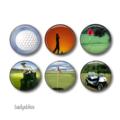 Magnets -Golf - set of 6 fridge magnets