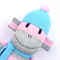 'Franny' the Sock Monkey - grey, aqua and pink - *ready to post*