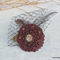 Burgundy flower with Swarovski crystals, hairclip/fascinator