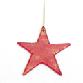Fused Glass Red Star Xmas Decorations / Christmas Ornament,