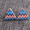 Chevron Triangle~Wooden Studs