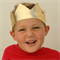Metallic Gold Crown - Birthday Crown - Photo Prop