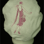 Ladies After Shower Towel Cap-WOM1-KS551 Bright Pink