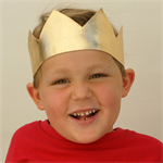 Metallic Gold Crown - Wild One Birthday Crown - Photo Prop- Birthday Outfit