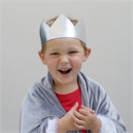 Silver Crown - Birthday Crown - Metallic crown - Boy Crown - Birthday Outfit
