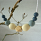 Silicone teething/nursing bead necklace - silicone beads - wooden geometric bead