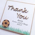 Thank You Coach card | Personalised Custom Made | Soccer Football Teacher