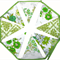 Vintage Bunting - Retro Floral Spring Green Flags. ECO FRIENDLY Decoration