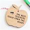 Teacher gift decoration ornament bamboo wood apple the best teachers teach