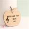 Custom Music Teacher gift decoration ornament bamboo ply wood personalised apple