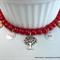 Red Aspirational Charm Bracelet