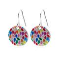 Colour Drops Printed Disc Drop ~Earrings