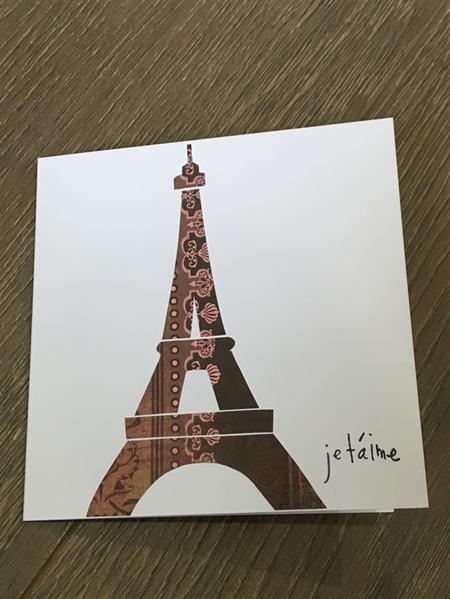 Paris Eiffel Tower Je Taime I Love You Wedding Anniversary Valentine Card