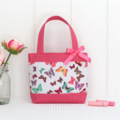 Mini Tote Bag for Little Girls - Butterflies