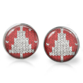 Xmas Tree Stud Back Glass Earrings