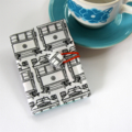 Tea Bag Wallet - Melbourne Places on White