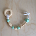 Silicone Beaded Dummy Clip in Mint
