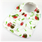 Christmas Baby Bib, Owl and Bird Christmas Fabric, Bamboo Toweling Backed.