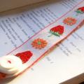 BOOKMARK RETRO VINTAGE, Strawberry Braid, Buckle and Button