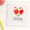 Teacher Personalised card takes a big heart to shape little minds large apples