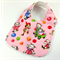 Baby Dribble Bib, Pink Kitten Cotton Fabric, Bamboo Toweling, Snap Fastened.