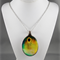 Upcycled/recycled vintage spoon resin pendant necklace, sunflower, art, print