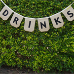 Drinks bunting. burlap, hessian banner