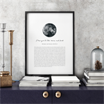 Wedding Vows Keepsake Print - I Love You to the Moon