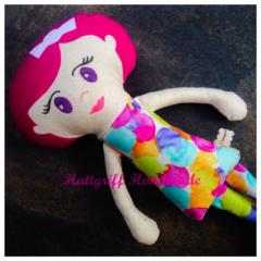 CUSTOM ORDERED  Look Alike Little Lady Fabric Doll
