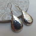 Antique Silver Hammered Earrings