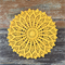 Crochet doily, sunny yellow, seafoam, teacher's gift, retro home