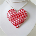 Retro Heart - Red Check