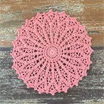 Crochet doily, coral, teacher's gift, teacher appreciation gift