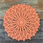 Crochet doily, orange, teacher's gift, teacher appreciation gift