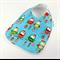 Christmas Baby Bib, Christmas Owls Fabric, Bamboo Toweling Backed, Snap Fastened