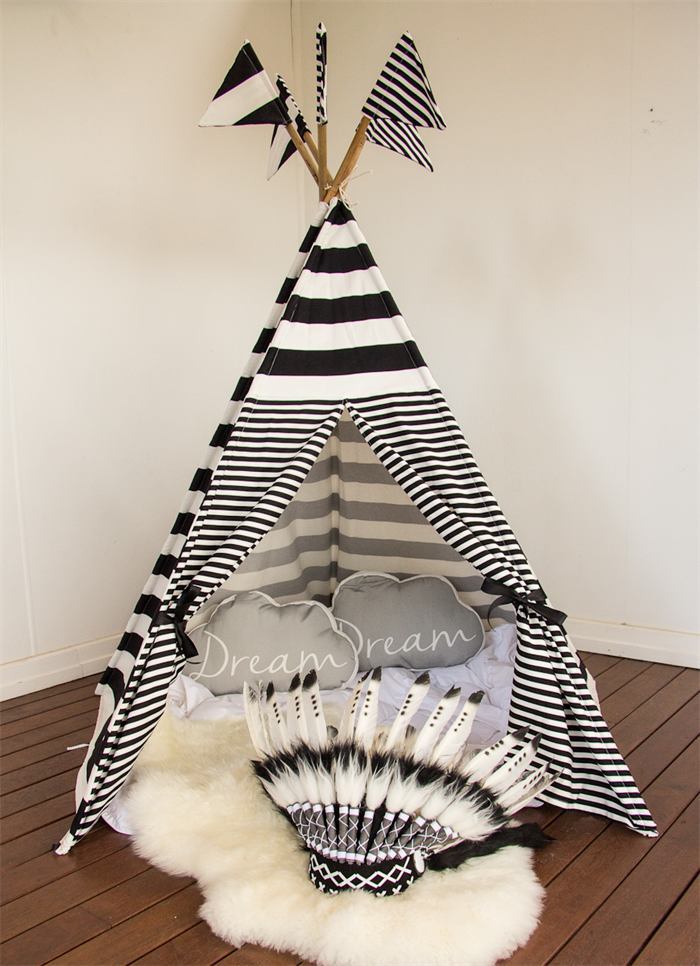designer fashion aa1df 5a2c0 Kids Teepee - Monochrome Black and White | The Handmaids ...